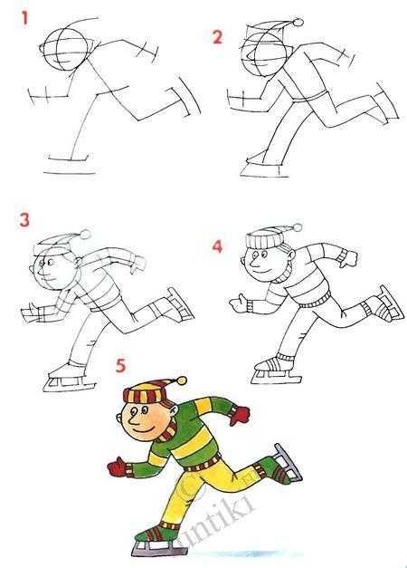 Как нарисовать любой вид спорта – Как нарисовать спортсмена ...
