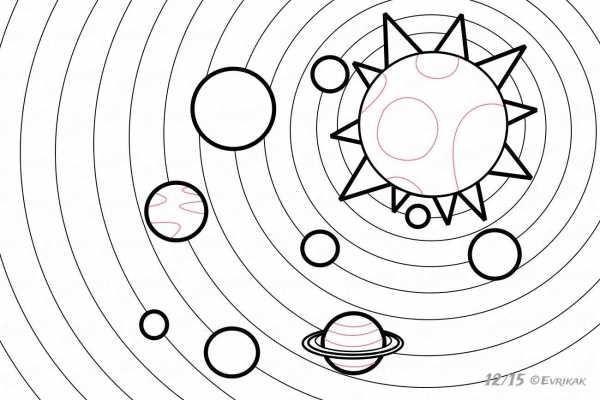 картинки космоса красивые для срисовки солнечной системы